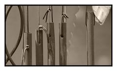 Wind Chimes (MuTant 99) Tags: home garden windchimes bw sepia pentaxk3 lensbabytwist60