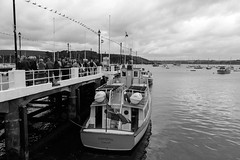 The Waiting Line (richardsolway) Tags: ferry boat ocean passengers sea pier ship cornwall falmouth