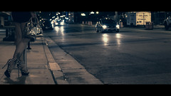 solitary night (R*Wozniak) Tags: nikon 235x1 anamorphic cinematic candid color city graded 16x9 cinematography street shadows night nikond750
