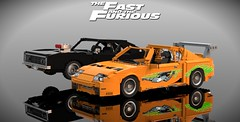 F&F 1 (OWL3T) Tags: toyota dodge charger supra mk mark 4 iv rt ff lego fast furious fastandfurious fastfurious vindiesel diesel vin brianoconner oconner jz 2jz toretto dominictoretto