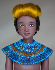 New beaded collar (Lenician-Terran-Dolls) Tags: youpla youpladolls youpladollszopa dollsofcolor bjdsofcolor handmade handmadewig bjd dolls