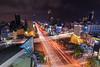 美麗島站夜景 (sic Chiu) Tags: 高雄 高雄市 台灣 kaohsiung night longexposure 6d ef1635mm 車軌 夜景 長曝 星芒 85大樓 美麗島 taiwan