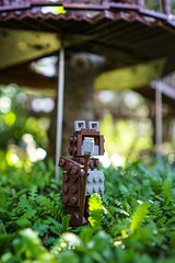 Ewok Legoland (Erik Starck) Tags: wizard stick manager chief toy lego monster ewok green starwars