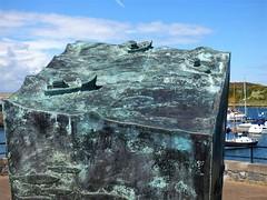 Ardglass, County Down: a tribute to mariners (ronmcbride66) Tags: ardglass port fishingport memorial art codown fishingvillage spa streetfurniture publicart marina boats sculpture yachts whin gorse vividstriking coth