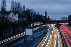Tráfico (elenamatias) Tags: rue calle steet traffic trafico voiture coche car movimiento mouvement france amanecer