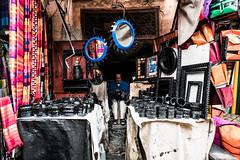 . (superUbO) Tags: marrakech artist artigiano bottega man muslim city street portrait medina suk culture