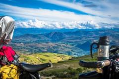 A look back at Cajamarca through Amanda's bike.