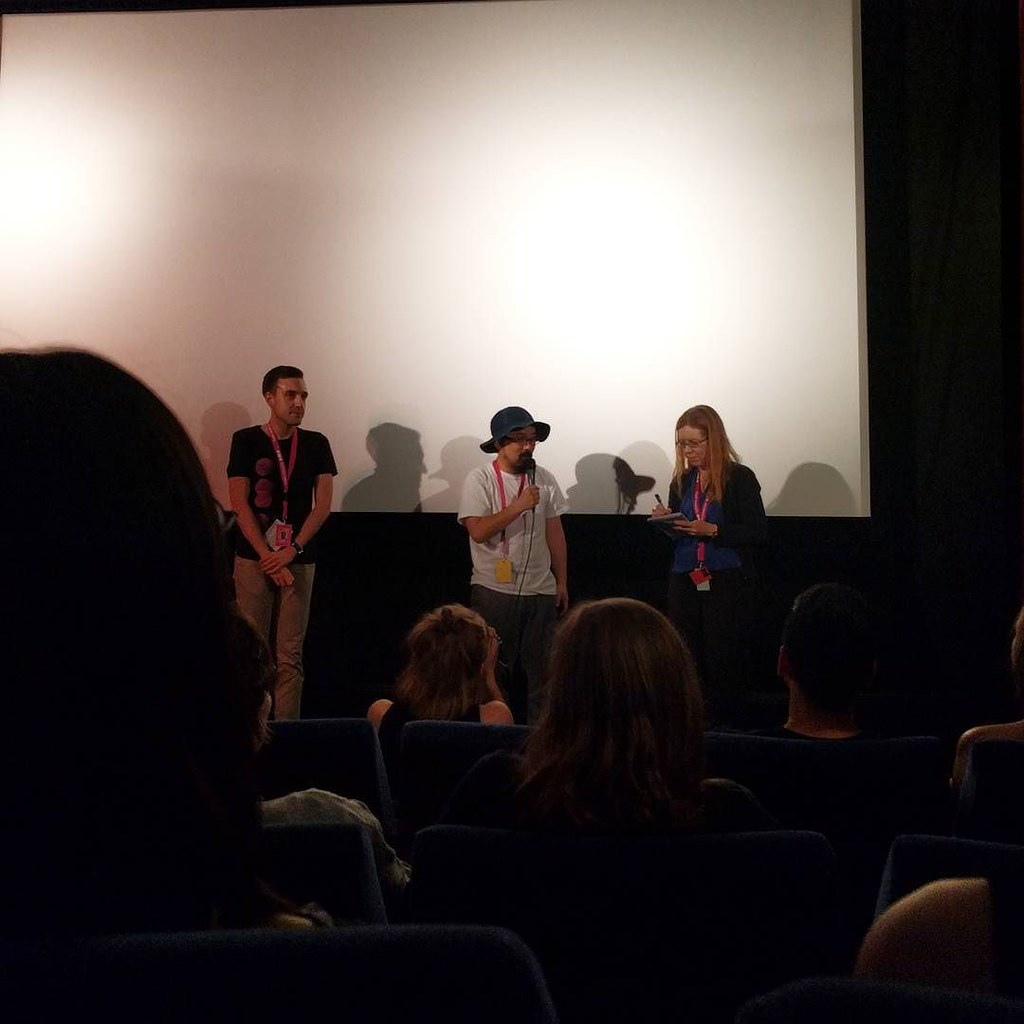 """fun q&a with director Nobuhiro Yamashita after his film """"Over The Fence"""" #NipponConnection #NC17"""