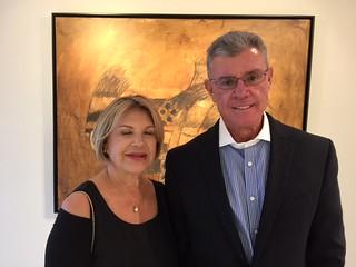 Ninoska Huerta and Juan Vicente Urdaneta at the opening of Szyszlo at Durban Segnini Gallery