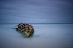 Wrecked (Rodney Campbell) Tags: longexposure capebanks ship ocean boat sa bigstopper gnd09 water sky shipwreck southaustralia carpentersrocks cpl clouds carpenterrocks australia au