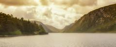 Glenveagh National Park (Trev Bowling) Tags: glenveagh national park ireland donegal lake hill valley water mountain sun cloud autumn gold glow mist nikkor