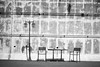 147/365 (Daegeon Shin) Tags: nikon d750 nikkor 55mmf28 bw wall pared table mesa chairs sillas 니콘 니콘렌즈 365 흑백 벽 담 탁자 의자 빈의자 abandonada abandoned 유기물 shadow sombra 그림자 남해 경남 namhae corea korea