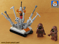 TREADWELL DROID 01 (baronsat) Tags: lego model droid treadwell jawa market tatooine custom moc sw anh esb rotj space scifi fighter movie baronsat anewhope starwars building instructions