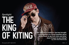 The King of Kiting (Dylan Childs) Tags: comedy humor satire parody spoof kite kiting sports mockumentary funny skyblades sky blades benjohnson dylanchilds canon austin texas photoshop graphicdesign design magazine centerfold