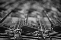 Shopping carts (mripp) Tags: art kunst abstract abstrakt shopping madness black white mono monochrom scharzweiss schwarz weiss detail summilux 50mm leica m10