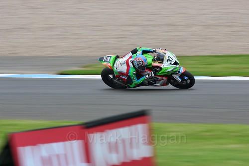 Ondřej Ježek in World Superbikes at Donington Park, May 2017