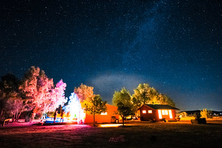 Our Airbnb House party under the Milky Way in Joshua tree