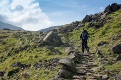Hiking in the Lake District on the Corridor route between Great Gable and Scafell Pike (Phil_Hector) Tags: terrain rocky mountains outside walking trail hiking hiker hike travel lifestyle landscape nature england uk wilderness outdoors adventure explore wander lakedistrict
