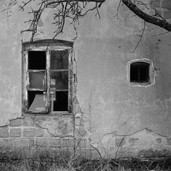 Wild Wild East series (analogue edition) (Neko! Neko! Neko!) Tags: trix400 sovietcamera mediumformat kiev60 blackandwhite bw mono monochrome poland polska winter countryside east easterneurope desolate abandoned abandonedbuildings abandonedplaces deserted film analogue 120 mf 6x6 kodak trix 400