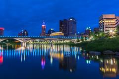 DSC00205 (itspoots) Tags: columbus ohio bridge water river reflection sony sonya6000 skyline downtown