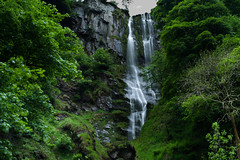 Pistyll Rhaeadr (joshdgeorge7) Tags: waterfall surreal green spring wales gravity exposure filter nature mist water river