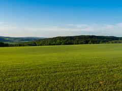 Brunkulla fields (Housemill) Tags: panasonic pointandshoot pointshoot fields green grönt bluesky blåhimmel lx5 lumix landscape landskap availablelight himmel handheld rural compact countryside sverige sweden