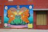 Mural, Red Oak, IA (Robby Virus) Tags: redoak iowa ia mural street art brick wall painting