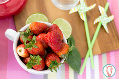 Little Foodies: Strawberry & Basil Slushy (twofoodies) Tags: albahaca basil batido fresa slushy strawberries