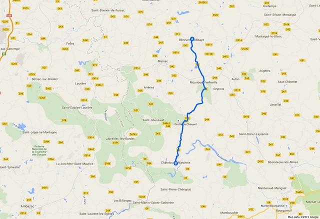 072_Francja_Bénévent-l'Abbaye - Châtelus-le-Marcheix
