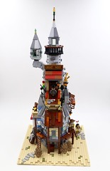 Steamcastle MOC (Lego Builder from China) Tags: lego steampunk castle airship building