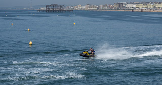 Jet Skiing On Brighton Seafront