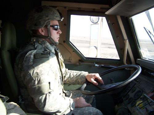 Chief Warrant Officer Jess Willard traveling on MSR Tampa near Iraq, 2006.