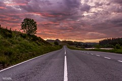 The road to heaven or hell (Carl Yeates) Tags: sunrise canon clouds dramatic 550d beautiful lines