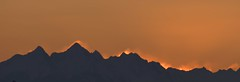 Fiery Dawn and the Twin Sisters (kenyoung3) Tags: dawn fiery inferno ringoffire washingtonstate cascaderange