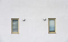 22 Minimalistic (manxmaid2000) Tags: windows white wall minimal plain minimalist symmetry symmetrical house building balance window blinds external render crack isleofman portstmary iom frame simple
