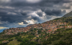 View of Arachova (Vagelis Pikoulas) Tags: greece europe travel photography landscape view village houses sky clouds cloudy cloud canon 6d tokina 1628mm summer june 2017 full frame
