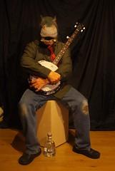 hippo, banjo percussion, gin (horsesqueezing) Tags: hippomask banjo gin selfportrait selfie