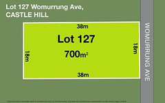 Lot 127 Womurrung Avenue, Castle Hill NSW