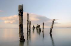 Old Pier - Bridport - Tasmania (glendamaree) Tags: oldpier bridport tasmania jetty pier australia beach water longexposure nature pastel blue nikon surreal nikond7000 tokina1116