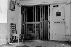 The wooden chair and the iron grille (gunman47) Tags: 2017 airport asia asian b bw crescent dakota east estate improvement mono monochrome mountbatten road sg sit sepia singapore south trust w abandoned bar black bloc chair chairs desolate empty en grille iron landscape old photography redevelopment street urban white wooden