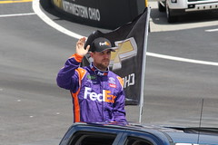 I gave a special cheer for Denny Hamlin, he drives for Fedex !!! (Hazboy) Tags: hazboy hazboy1 tennessee bristol motor speedway auto car racing nascar food city 500 monster series april 2017 race racetrack denny hamlin