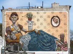 Old Friend (WalrusTexas) Tags: mural graffiti pixelpancho steampunk robot