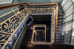 step-by-step (Elbmaedchen) Tags: staircase downstairs treppenhaus hamburg holstenhof