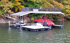PWC Slip Dock with a Sundeck