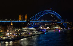 Sydney Harbour Bridge in Blue