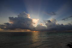 ... awakening (mariola aga) Tags: puntacana dominicanrepublic atlanticocean morning sun sunrise ocean water clouds light sunlight sunrays wideangle saariysqualitypictures