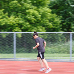 _A1A7050 (cresantec) Tags: runningtrack panning jogging motionblur