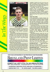 Norwich City vs Luton Town - 1991 - Page 28 (The Sky Strikers) Tags: norwich city luton town barclays league division one carrow road official matchday programme pound twenty