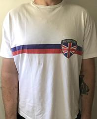 #2140A Morrissey - Shield of Britain (Minor Thread) Tags: minorthread tshirtwars tshirt shirt vintage rock concert tour merch white morrissey moz shielf brittian flag thesmiths everydayislikesunday