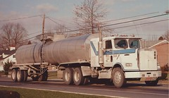 """Freightliner Conv, """"Quality Carriers"""" #560 (PAcarhauler) Tags: freightliner tractor trailer tanker semi truck"""